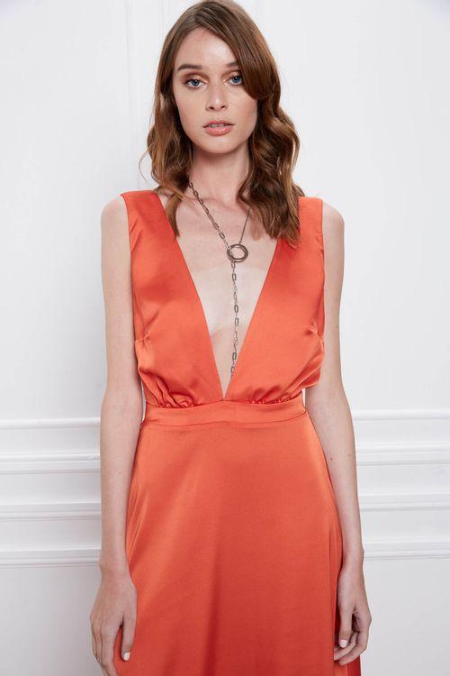 Vestido Cima Naranja